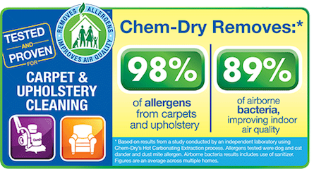 Chem-Dry's Carpet & Upholstery Cleaning Removes 98% of Allergens & 89% of Bacteria for a Healthier Office