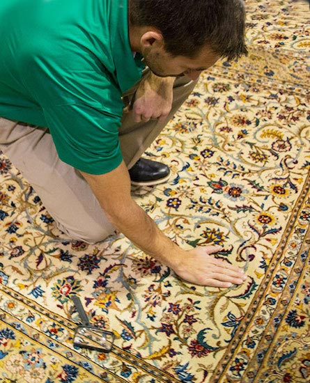 Chem-Dry of La Crosse Technician Providing Professional Area Rug Cleaning